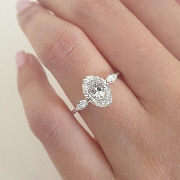 Engagement, wedding ring, 925 silver rings, jewelle