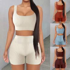 sportsoutfit, 2pieceset, yogaoutfit, high waist shorts