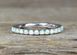Sterling, wedding ring, Simple, birthstonering