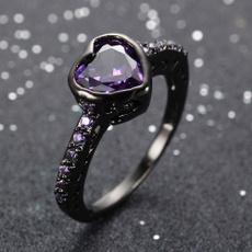 Heart, blackgoldfilledring, Jewelry, gold