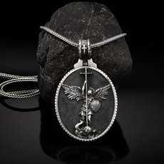 Sterling, Fashion, Christian, mensdailynecklace
