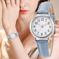 dial, Fashion, students watch, leather strap
