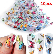 butterfly, nail stickers, stencil, art