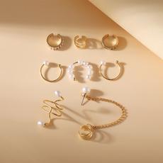partyearcuff, Jewelry, Pearl Earrings, simpleearcuff