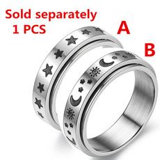 Couple Rings, Steel, Fashion, Star