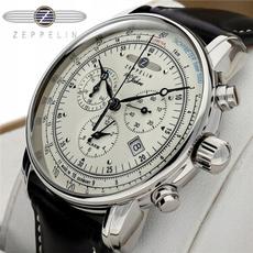 Chronograph, business watch, leather, fashion watch