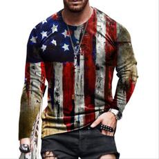 Mens T Shirt, Round neck, Fashion, long sleeve t shirt