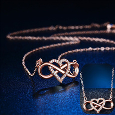 Sterling, clavicle  chain, 925purenecklace, Love