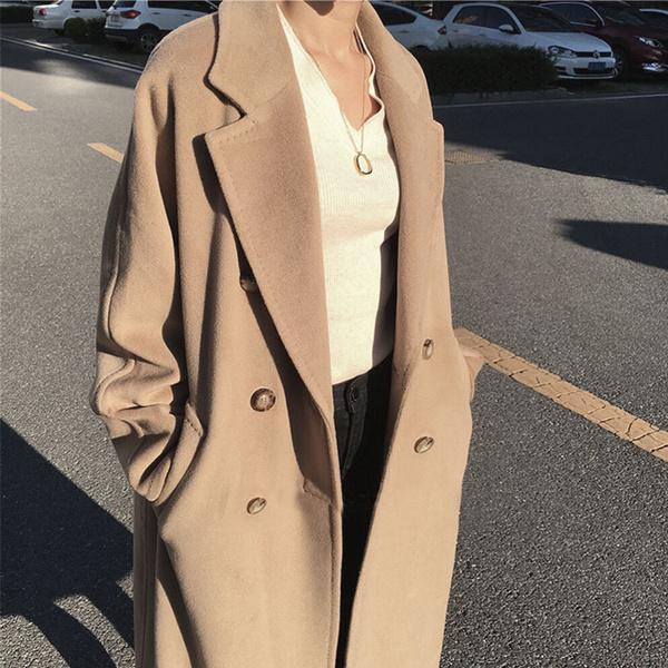 casual coat, Winter, Camel, Coat
