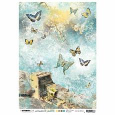 Butterflies, lights, Photography, decoupage