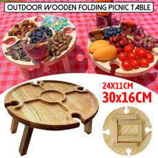 woodenwinetable, Mini, Outdoor, Picnic