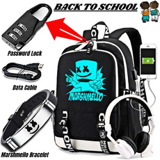 School, backpacks for boys, Dj, usb