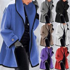 Jacket, Plus Size, hooded coat, wool coat