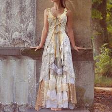 Summer, summer dress, Lace, floorlengthrobe