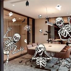 ghost, glassdecoration, mummysticker, skullsticker