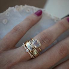 DIAMOND, gold, 18k gold ring, promise rings