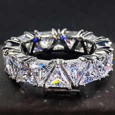 Sterling, DIAMOND, Triangles, Engagement Ring