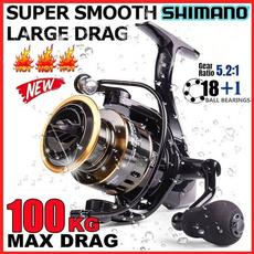 spinningreel, fishingaccessorie, shimano, Metal