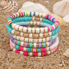 Charm Bracelet, bohojewelry, softpotterybracelet, Colorful