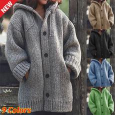 Jacket, Plus Size, Winter, cardigan