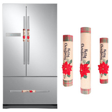 Decoración, microwaveoven, Christmas, refrigeratorcover