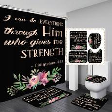 Bathroom, Bathroom Accessories, Floral, toiletmatset