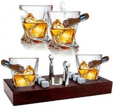 Wooden, tray, oldfashionedglasse, Gifts
