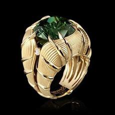 18 k, Emerald, Fashion, wedding ring