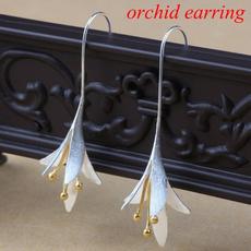 Sterling, 925 sterling silver, gold, wedding earrings