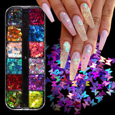 butterfly, nail decoration, art, Colorful