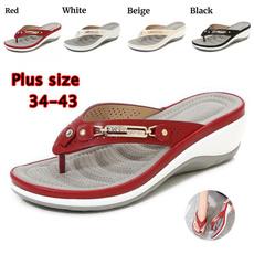 wedge, Flip Flops, Plus Size, Platform Shoes