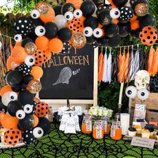 Orange, black, Balloon, Halloween