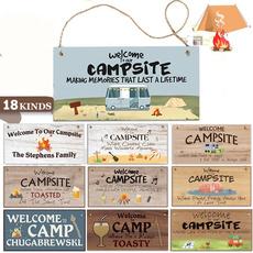 campingsign, woodenplaque, hangingplaque, camping