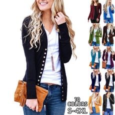 Fashion, autumnblouse, sweater coat, Long Sleeve