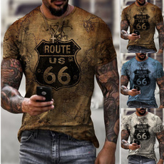 route66, Printed T Shirts, plussizetshirt, printed