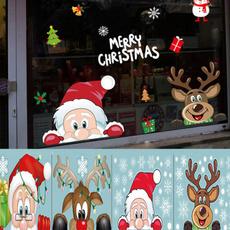 Christmas, glasssticker, christmaswindowcling, Home & Living