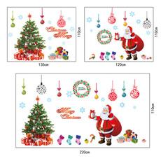 Christmas, Door, glasssticker, Stickers