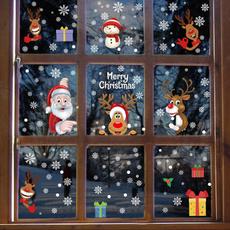 Christmas, christmaswindowcling, Home & Living, Glass