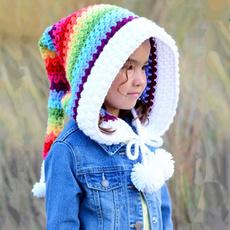 Warm Hat, Beanie, hooded, Winter