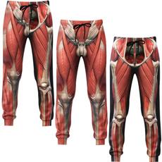 Funny, Fashion, 3dpant, Skeleton