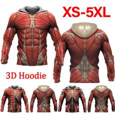 3D hoodies, Casual Hoodie, musclehoodie, Sleeve