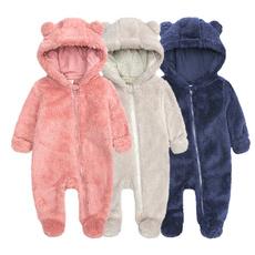 Infant, hooded, babyromper, Winter