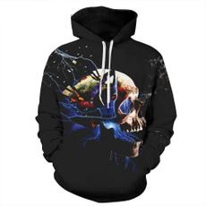 Fashion, pullover hoodie, skull, shadowsfallmenshoodiesweatshirt