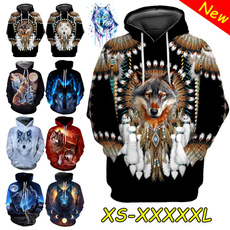 hooded, animal print, Long Sleeve, Long sleeved