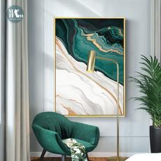 Decor, Wall Art, gold, canvaspainting