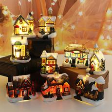 ambientlight, christmasresinhutdecoration, christmasdecorationresinsmallhouse, Christmas