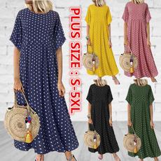 Plus Size, ladiesdresse, Sleeve, long dress