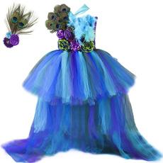 peacock, girls dress, tulle, girlspeacockdres