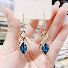 fashionladiesearring, DIAMOND, Jewelry, diamondshapedinterlockingearring