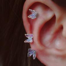 Beautiful, butterfly, butterfly earrings, piercingjewelry